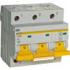 Автоматический выключатель 3 полюса 80А С ВА 47-100 10кА IEK